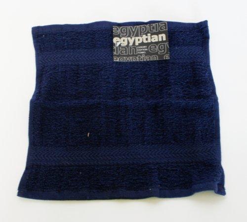 Egyptian Serviette de Toilette 100 % Coton, Bleu Marine