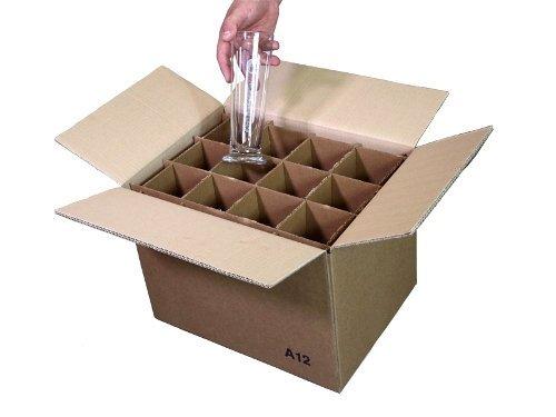 Simba Paper Design 5 Scatole 12 Bicchieri Alti Max cm 29 Cartone 2 Onde Trasloco+Spedizione