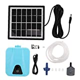 Uayasily Oxigenador, Agua del Aire De La Bomba Estanque Solar Resistente Al Agua USB Oxígeno Oxigenador De Bomba De Aire Aireador para El Jardín Al Aire Libre Estanque
