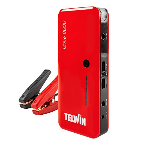Telwin Drive 9000 3in1 12V-Lithium-Starthilfegerät Notstarter, Power Bank und LED Leuchte
