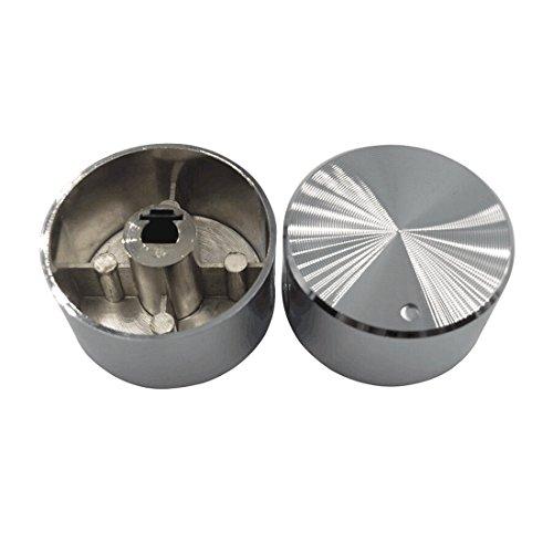Meter Star, manopola rotante per fornelli a gas, 4 pezzi, manopole per fornelli a gas in acciaio inox, manopola rotonda in acciaio inox, manopola per fornelli a gas