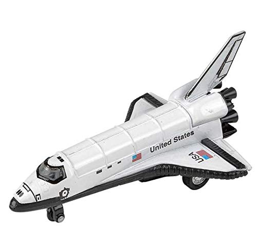 Rhode Island Novelty 5 Inch Diecast Pullback Space Shuttle, One Space Shuttle