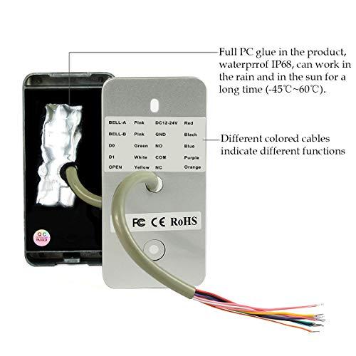 Retekess T-AC03 Security Access Control Keypad,RFID Keypad,Door Access Control,Stand-Alone Keypad,2000 Users,Wiegand 26-bit,Support Proximity RFID Card