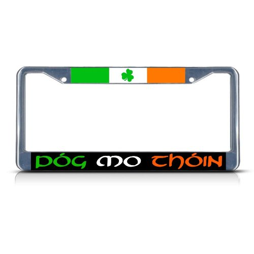 Fastasticdeals Pog Mo Thoin Irish Ireland Heavy License Plate Frame Tag Holder Cover