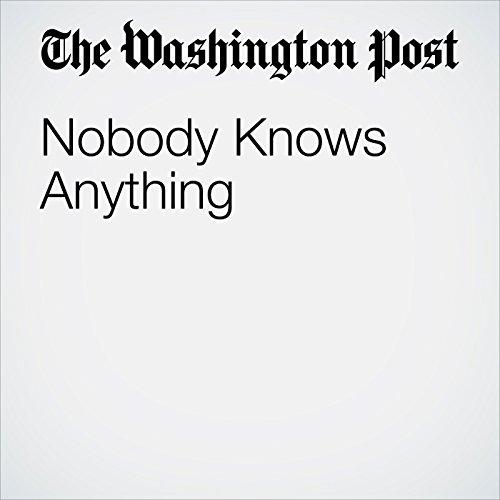 Nobody Knows Anything copertina