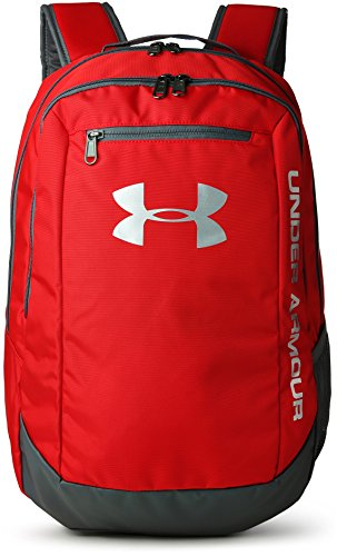 Under Armour UA Hustle Backpack Ldwr Mochila, Hombre, Rojo (Red/Graphite/Silver 600), Talla única
