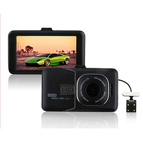 QXHELI Autokamera Doppelobjektiv Rück Auto-Kamera Volle HD 1080P-Schlag-Nocken Für Autos Der Nachtsicht-Weitwinkel DVR Bewegungserkennung G-Sensor Parken-Monitor WDR