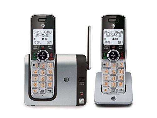 AT&T CL81214 DECT 6.0 Expandable Cordless Phone with Caller ID and Big Buttons, Silver/Black...