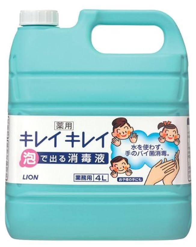 のぞき穴深めるもちろん【大容量】キレイキレイ 薬用泡で出る消毒液 4L  (指定医薬部外品)