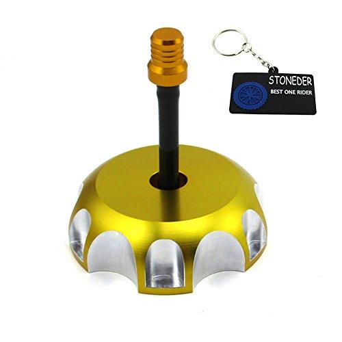 STONEDER Bouchon de réservoir de carburant pour DRZ 50/70 2008 – 2013 / DRZ 125L 2003 – 2009 / DRZ 125 2003 – 2011 / DRZ 400E 2000 – 2007 / DRZ 400 20000 200 - 20 04 / RMZ 250 2007 - 2009 / LTR 450 2006-2009.