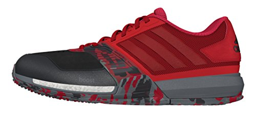 adidas Crazytrain Boost, Zapatillas de Deporte para Hombre, Rojo (Rojray/Rojpot/Negbas), 45 1/3 EU