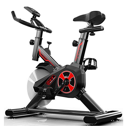 WJFXJQ Ejercicio Bicicleta Interior Ciclismo Bicicleta estacionaria Bicicleta estacionaria para el hogar Gimnasio Entrenamiento Cardio Bicicletas Bicicleta Vertical con Pantalla LCD