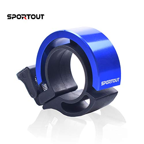 Sportout Mini Aluminiumlegierung Innovative Fahrradklingel Fahrrad Ring mit Lauten Klaren Klaren Kla … (Blue)