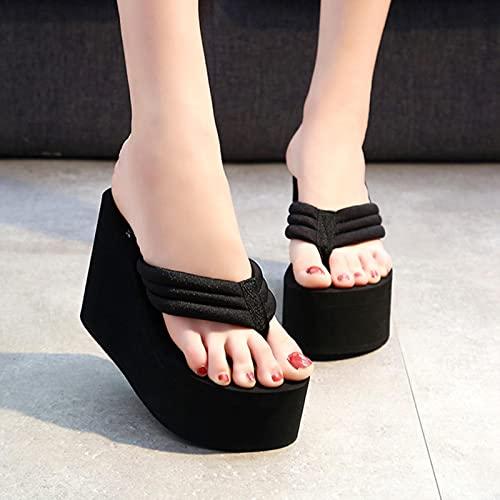 TER Zapatillas de Playa con gatillo Suave IVA para Mujer, Zapatos de Plataforma...