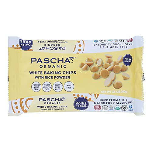 Organic Rice Milk Chocolate Baking Chips; White Chocolate , Pack of 8