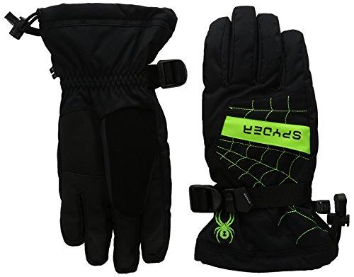 Spyder Boys Overweb Ski Gloves, Small, Black/Rage