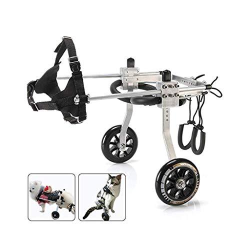 Silla de ruedas para perro, silla de ruedas – para perros pequeños de 2 – 5 kg – Perros cochecitos – para mascota/gato de perro para silla de ruedas Hind Leg de rehabilitación para disa