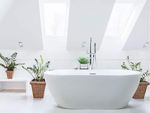 Moderne, freistehende Badewanne Acryl oval weiß 160 cm Nevis