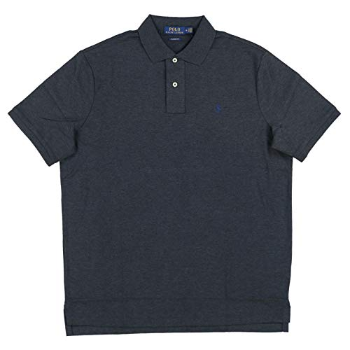 Polo Ralph Lauren Mens Interlock Classic Fit Polo Shirt (X-Large, Dark Gray Heather)