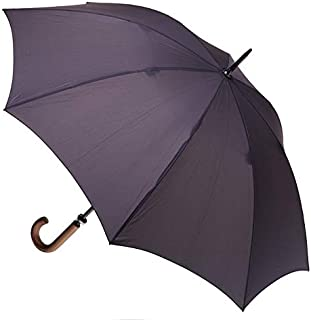 CLIFTON UMBRELLAS Charcoal Large Cover Classic Look with Wood Handle Umbrella, Charcoal Grey, One Size