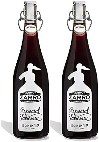 Vermut Zarro Especial Taberna Rojo de 75 cl - Elaborado en Madrid - Bodegas Sanviver (Pack de 2 botellas)
