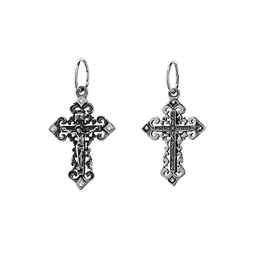 NKlaus 925er Sterlingsilber Silber Kruzifix Kreuz Anhänger Orthodox russisch 6262 Taufe