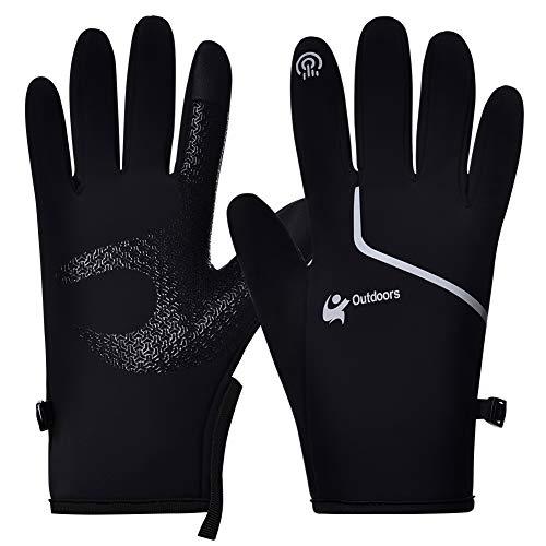 WEILUSI Winterhandschuhe für Damen und Herren, Touchscreen-Handschuhe, rutschfest, winddicht, wasserdicht, zum Klettern, Skifahren, Radfahren, Autofahren, Wandern, Outdoor-Sport