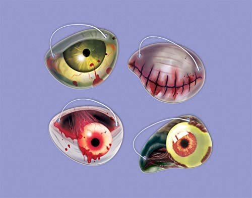amscan International 398147 Zombie Papier Eye Patch dragées Lot, 6.4 x 5 cm