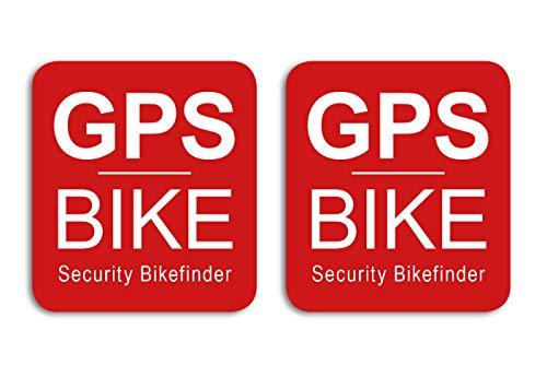 GPS Security Bike Finder Aufkleber 2 Stück für Fahrrad, E-Bike, Rennrad, Mountainbike, Citybike Sticker - Wetterfest, UV-Beständig
