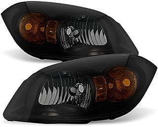 For Black Smoke 07-10 Pontiac G5 05-10 Chevy Cobalt 05-06 Pontiac Pursuit Headlights Lamps Replacement
