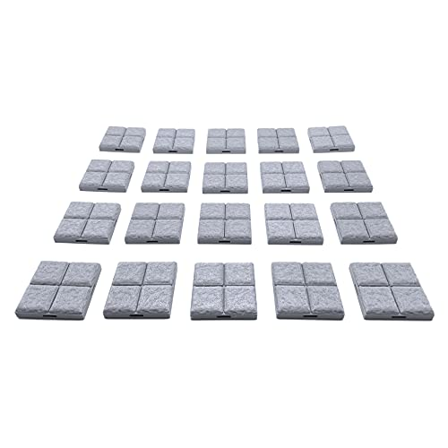 Locking Dungeon Tiles - Floor Tiles (20x Pieces), Terrain Scenery Tabletop 28mm Miniatures Role Playing Game, 3D Printed Paintable, EnderToys
