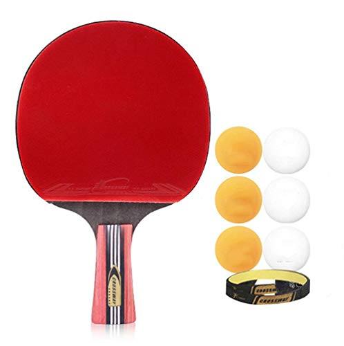 Buy Bargain Bocotous Table Tennis Racket, Ping Pong Paddle Set, 6 Table Tennis Balls Professional Ga...