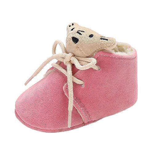 Botas de Nieve de Vendaje de Oso pequeño de bebé recién Nacido niños niñas Calzado cálido Infantil Zapatos Zapatillas Zapatitos Primeros Pasos