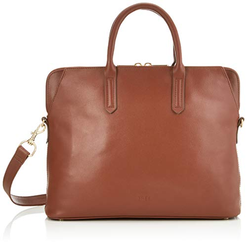 Bree Collection Women's Chicago 7 Tophandle Business Bag Brown (Argan Oil), 10 x 30 x 38 cm