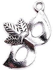 H-Customs Máscara Máscara de Ojo Diferente Encanto Colgante Collar Colgante Suministros de artesanía Joyería