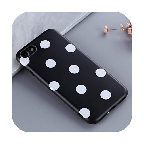 Protector de pantalla para iPhone X XR XS Max 360 Girls Bumper for 6 6S 7 8 Plus Tempered Film Women Cover-Black-for iPhone 6S