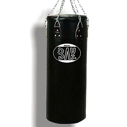 BAY® GUT & GÜNSTIG - 120 x 33 cm Sandsack Boxsack mit Stahlkette + Drehwirbel, Uni schwarz Sandsäcke Boxsäcke Senioren Junioren Erwachsene Damen Herren