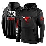 Michael Jordan N. ° 23 Hombres con Capucha, Chicago Bulls Flying Man - Sudadera De Entrenamiento De Baloncesto para Hombres, Chaquetas Y Pantalones Deportivos, Talla B-XL
