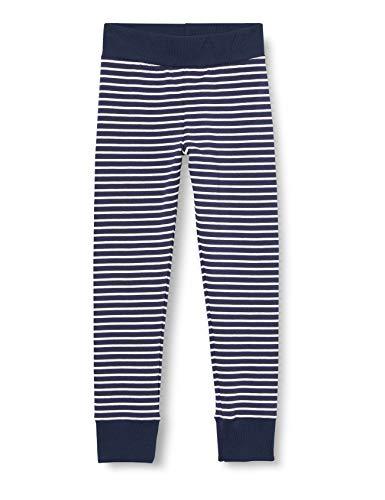 Sanetta Mädchen Striped Midnight Sportliche Leggings zeitlos schönen dunkelblauen Ringel-Look Athleisure-Kollektion, blau, 152