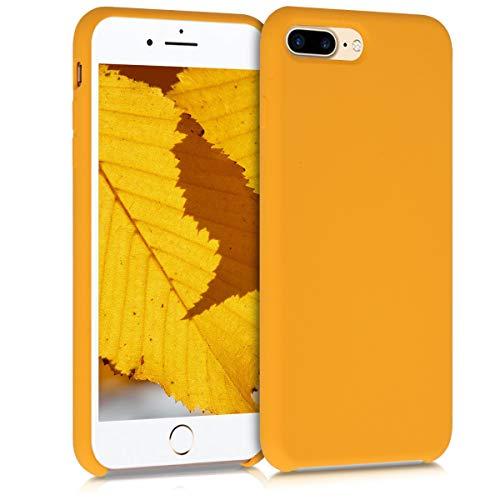 kwmobile Custodia Compatibile con Apple iPhone 7 Plus   8 Plus - Cover in Silicone TPU - Back Case per Smartphone - Protezione Gommata Giallo Zafferano