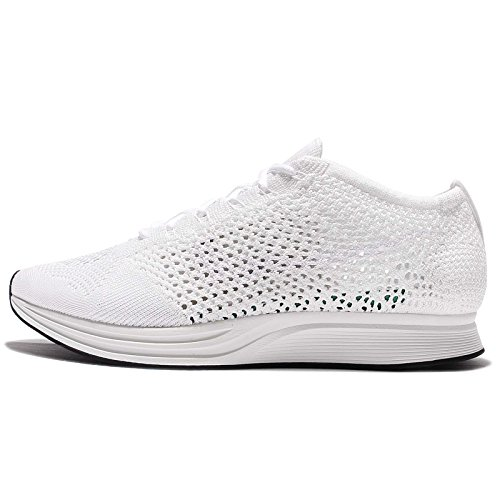 Nike Flyknit Racer Unisex Running Trainers 526628 Sneakers Shoes (UK 6 US 6.5 EU 39, White Sail Pure Platinum 100)