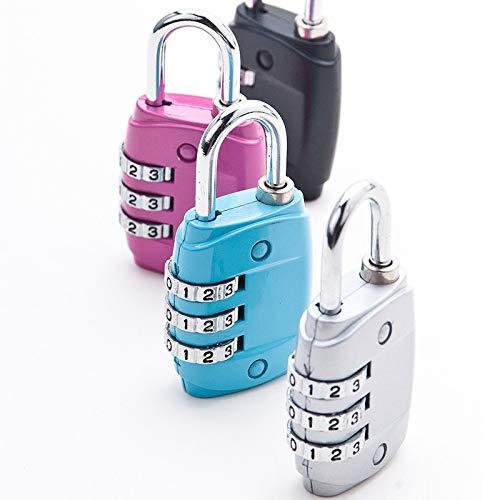Sconosciuto JHYYGUO - Lucchetto per valigie, Colore: Caramella, Blu