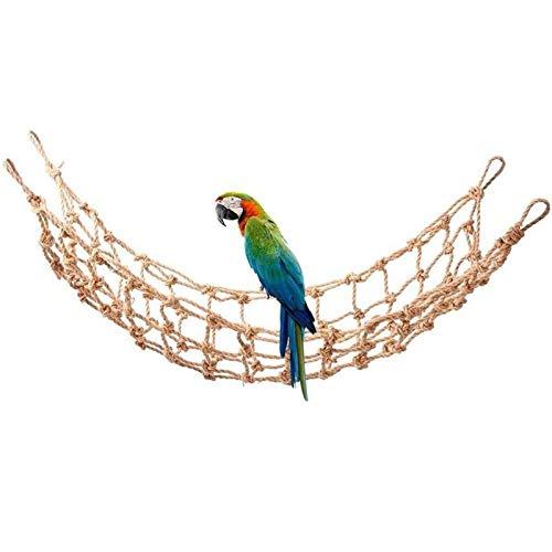 KTZAJO Red de escalada para loros, mascotas, jaula de pájaros, juego de cuerda para colgar con hebillas, escalera, periquito, guacamayo, juguetes de gimnasio (color: rojo)