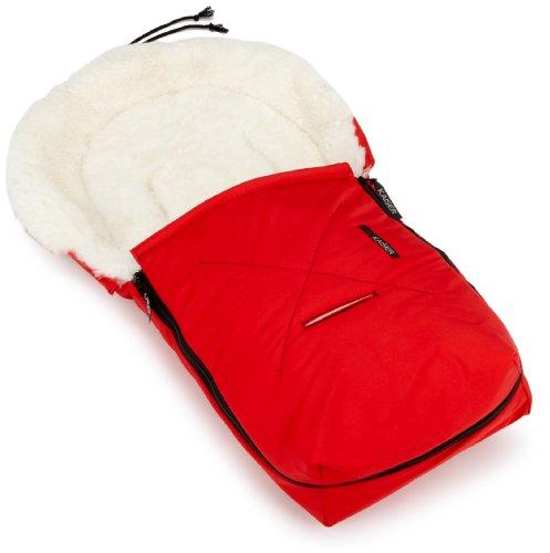 Kaiser 6534033 - Kuschelsäckchen weißes Lammfell, Farbe: rot