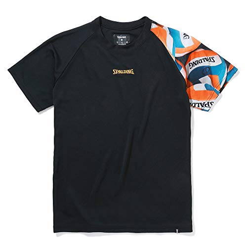 SPALDING(スポルディング) バスケットボール バレーボールTシャツ ボールスリーブ SMT210600 ブラック M バスケ バスケット