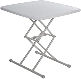 Chair 椅子 Tables Folding PE Desktop Steel Frame Adjustable Furniture Movable Lifts Regulator Dining Coffee (color : Square ...
