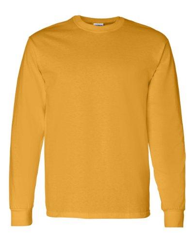 Gildan Mens 5.3 oz. Heavy Cotton Long-Sleeve T-Shirt G540 -GOLD L