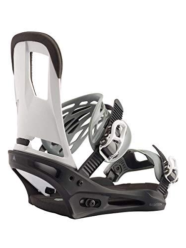 Burton M Cartel Schwarz-Weiß, Herren Snowboard-Bindungen, Größe M - Farbe Black - White