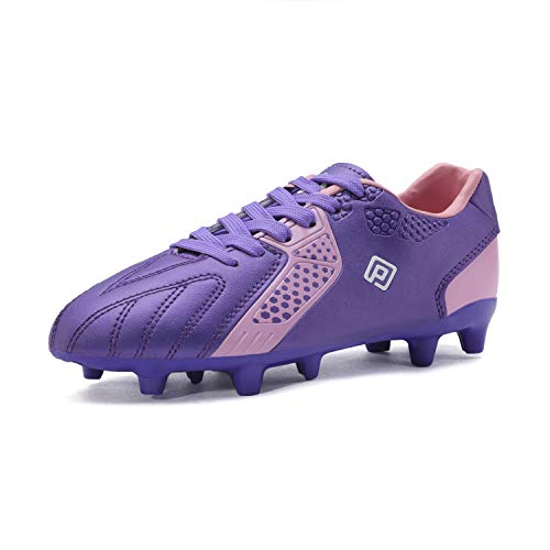 DREAM PAIRS Girls Hz19006k Soccer Football Cleats Shoes Purple Pink Size 3 M US Little Kid