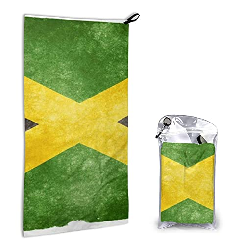 Toallas de Playa de Secado rápido Bandera de Jamaica,Toallas de Playa sin Arena Toalla de baño portátil Toalla de Playa de Viaje,Toalla para Deportes de natación